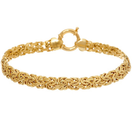 "18K Gold 7-1/4"" Polished Byzantine Bracelet, 5.6g"
