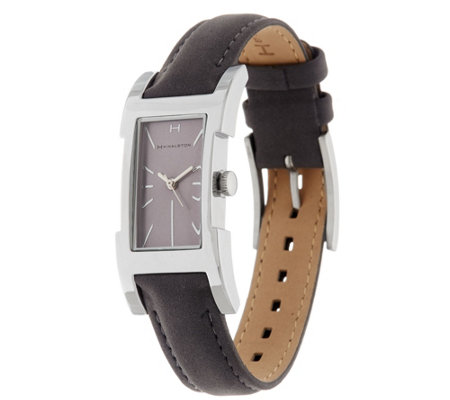 H by Halston Suede Watch with Adjustable Strap