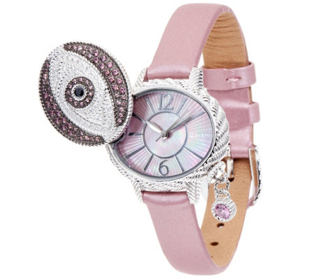 Judith Ripka Stainless Steel Diamonique Evil Eye Watch