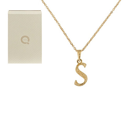 """As Is"" Adi Paz Textured Initial Pendant with 18"" Chain, 14K Gold"