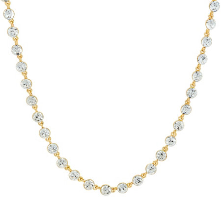 """As Is"" Isaac Mizrahi Live! 36"" Faceted Crystal Necklace"