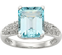 Sterling & 14K Sky Blue Topaz and Diamond Ring - J378204