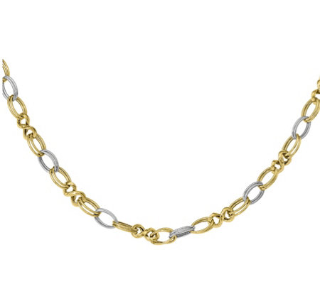 14K Gold Two-Tone Infinity Link Necklace, 8.2g