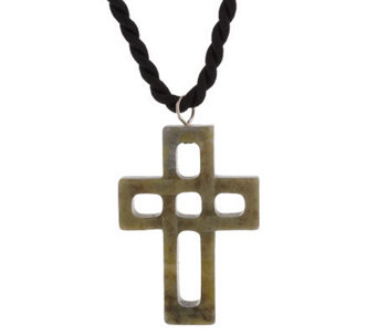 Connemara Marble Cross Pendant with Cord - J141905