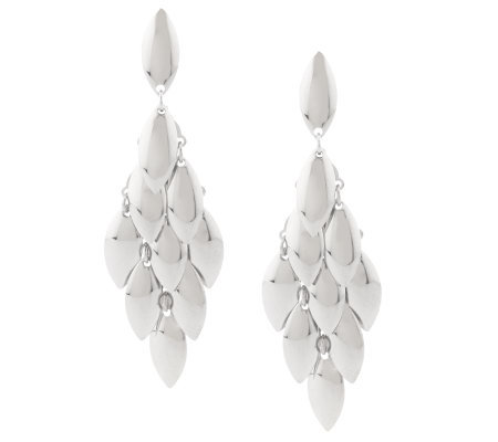 Steel by Design Teardrop Chandelier Earrings