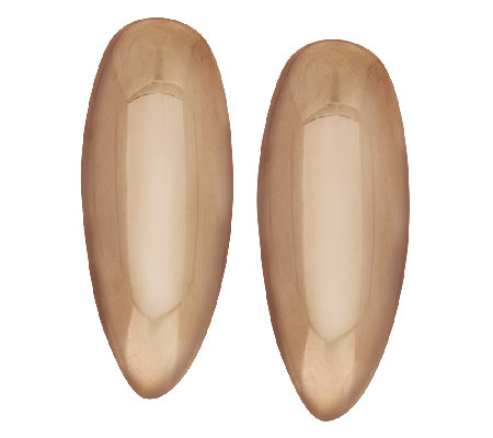 Bronzo Italia Polished Elongated Drop Earrings