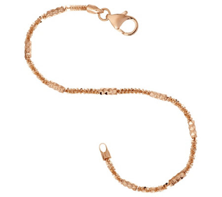 Bronze Margherita Diamond Cut Bracelet by Bronzo Italia