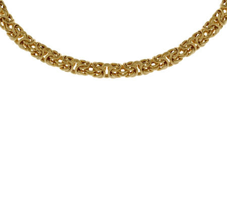 "Veronese 18K Clad 16"" Polished Byzantine Necklace"
