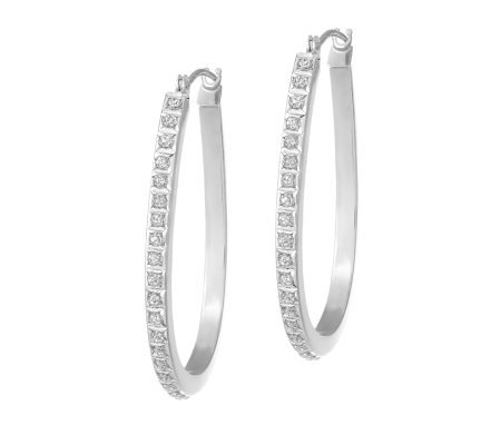 Diamond Fascination Hoop Earrings, 14K White Gold