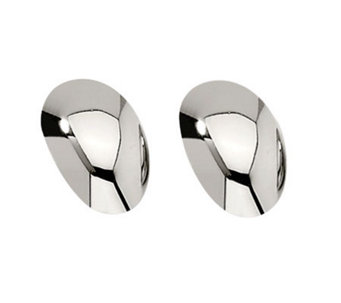 Stainless Steel Oval Earrings - J306705