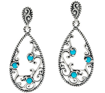 Carolyn Pollack Sleeping Beauty Turquoise Sterling Silver Earrings - J322505