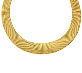 Bronze Bold Graduated Tubogas Necklace by Bronzo Italia - J322805