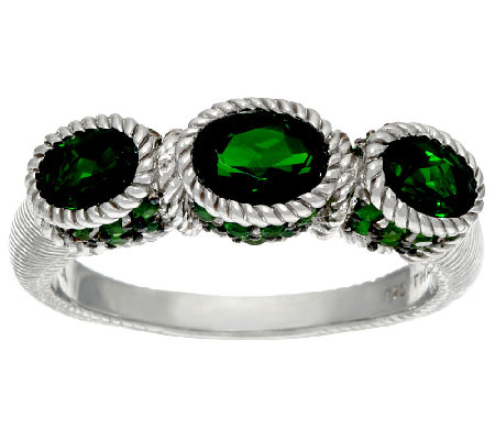Judith Ripka Sterling Chrome Diopside Ring