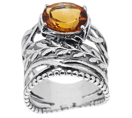 Sterling Silver 2.10ct Madeira Citrine Ring by Or Paz