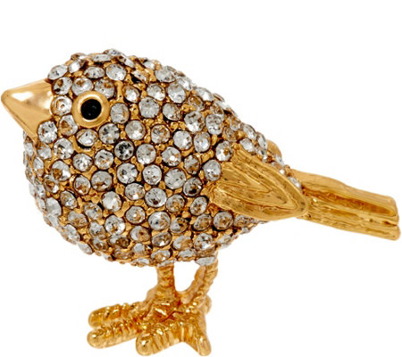 Joan Rivers Pave' Chickadee Pin