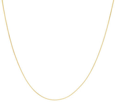 "Vicenza Gold 16"" Snake Chain Necklace 14K Gold 1.7g"