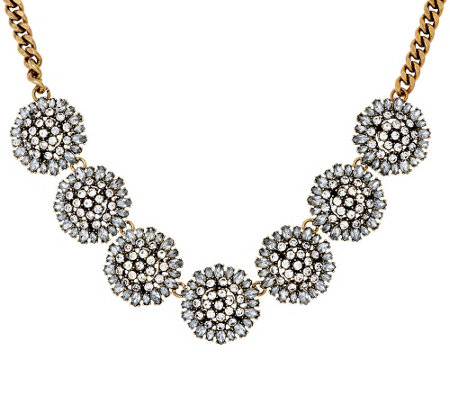 """As Is"" BaubleBar Crystal Dandelion Collar Necklace"