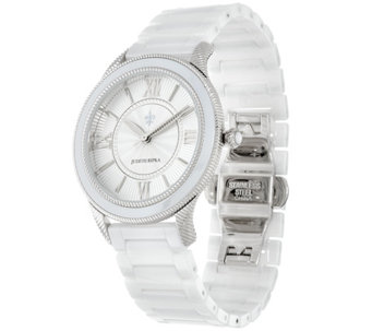 Judith Ripka Stainless Steel Silvertone Newport Ceramic Watch - J331605