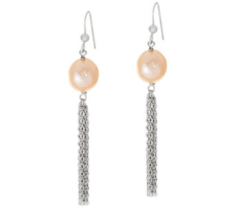 Honora Ming Cultured Pearl 12.0mm Tassel Sterling Drop Earrings - J332005