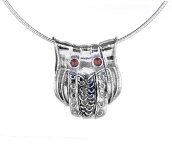 Regina Lane Sterling Owl Necklace e - J336905