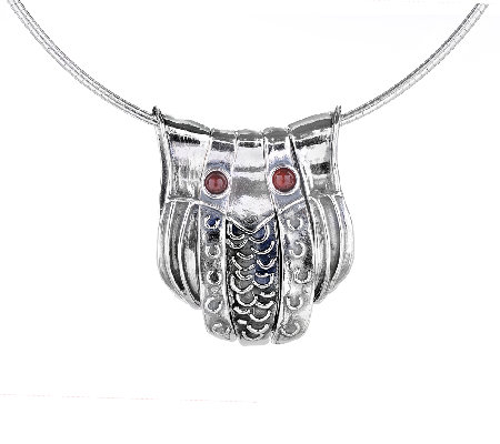 Regina Lane Sterling Owl Necklace e