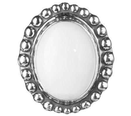American West Treasures Sterling White Chalcedony Insert