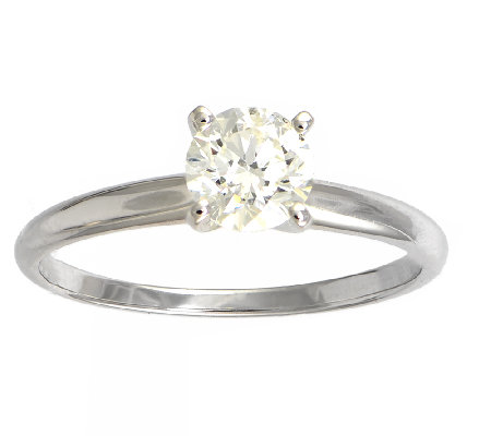 Diamond Solitaire Ring, 3/4 cttw, 14K White Gold, by Affinity