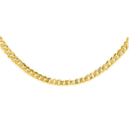 "Beveled Curb 24"" Chain, 14K"