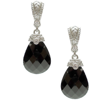 Judith Ripka Sterling Black Onyx Drop Earrings