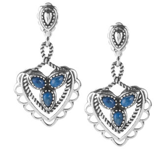 American West Choice of Color Heart Dangle Earrings - J344605