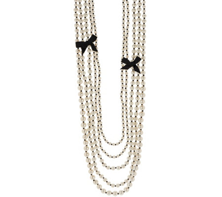 """As Is"" Multi-Strand Simulated Pearl Necklace"