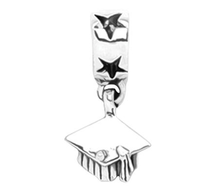 Prerogatives Sterling Graduation Cap Dangle Bead