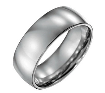 Forza Men's 8mm Steel Polished Ring - J109506