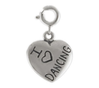 Sterling I Love Dancing Heart Charm - J113906