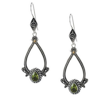 Suarti Sterling Gemstone Teardrop Dangle Earrings