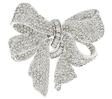 Joan Rivers Bejeweled Estate Style Bow Pin