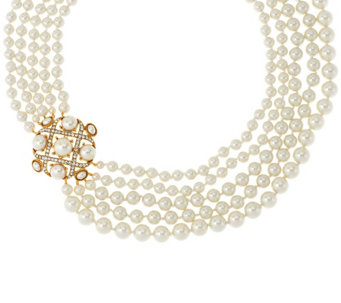 "Joan Rivers High Society Simulated Pearl Necklace with w/3"" Extender - J293606"