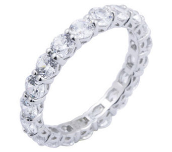 Diamonique 2.70 cttw Eternity Band Ring, Platinum Clad - J297706