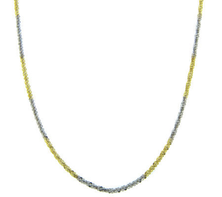 "Sterling Silver Two-tone Margherita 16"" Necklace"