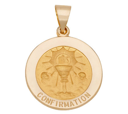 Choice of Round Confirmation Pendant, 14K Gold