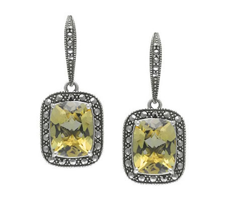 Suspicion Marcasite Sterling Quartz Earrings
