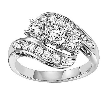 Cluster Diamond Twist Design Ring, 14K, 1.00cttw by Affinity