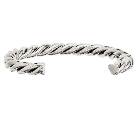 Stainless Steel Twisted Polished Cuff