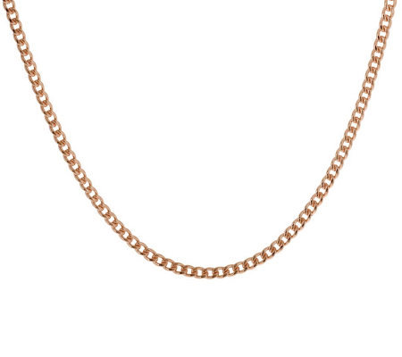 "Bronzo Italia 36"" Polished Curb Link Necklace"
