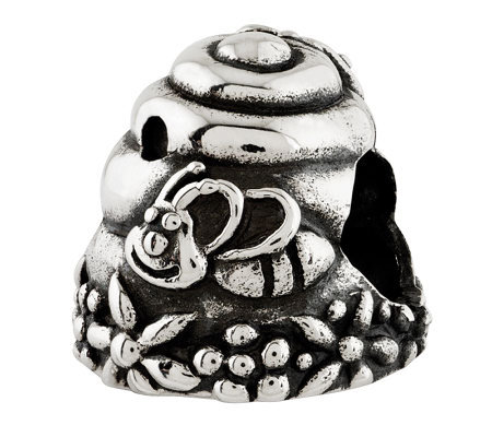 Prerogatives Sterling Beehive Bead