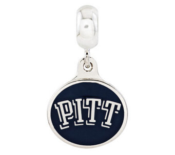 Sterling Silver University of Pittsburgh DangleBead - J315006