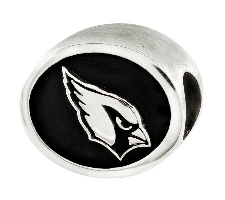 Sterling Arizona Cardinals NFL Bead
