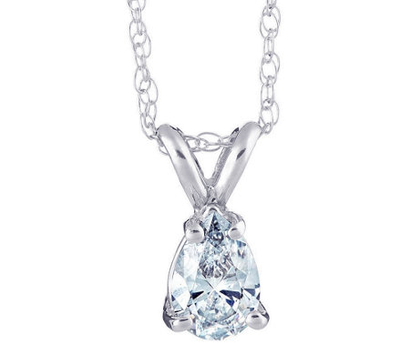Pear Shaped Diamond Pendant, 14K, 1/2 cttw, b y Affinity