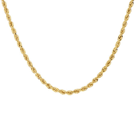 "14K Gold 36"" Bold Twisted Rope Chain Necklace, 9.6g"