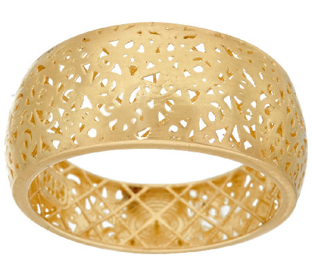 Adi Paz 14K Gold Openwork Lace Graduated Band Ring